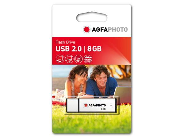 AgfaPhoto USB Stick 2.0 -  8GB silver