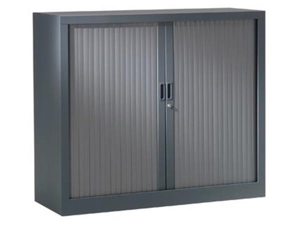 Roldeurkast, hoogte 100 cm, antraciet