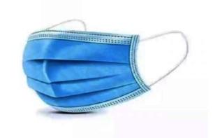 Mondmasker 3-laags - blauw - pak 10 stuks