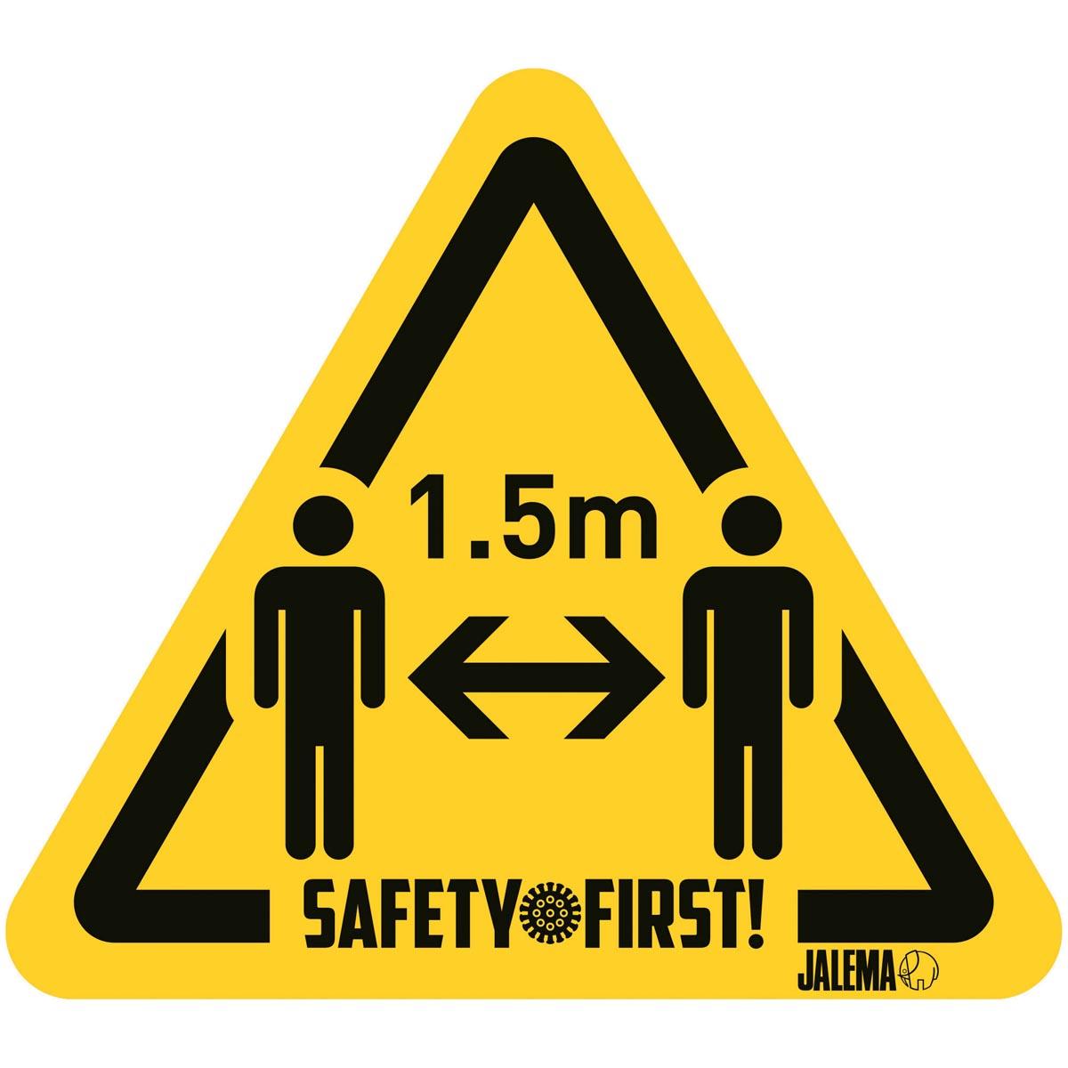 Waarschuwingsstickers - Houd afstand - model personen - pak 4 stuks